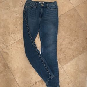 "FRAME Denim ""le high skinny"" jeans. Barely worn!"